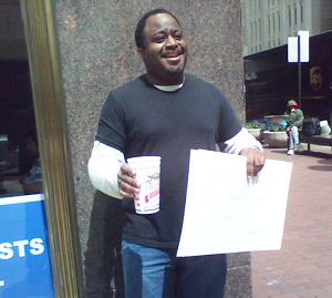 Abdul the Hobo in Indianapolis - Some People Just Talk About Change - I Take It!